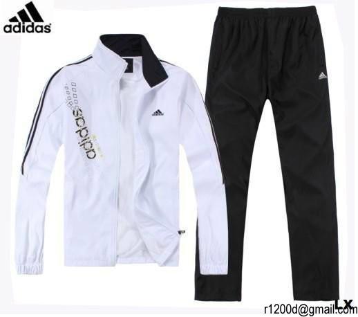 jogging blanc homme adidas