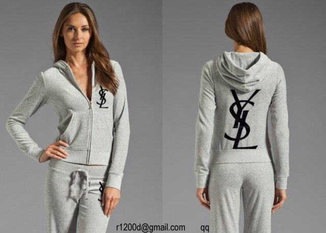 jogging yves saint laurent femme gris,survetement