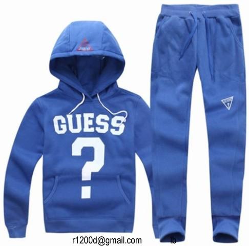 survetement guess femme bleu et blanc,ensemble jogging guess femme,prix  survetement guess femme b3412c909639