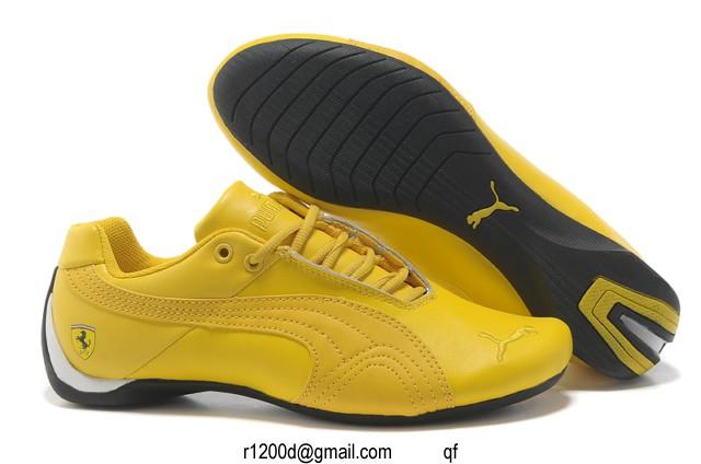 basket puma homme jaune