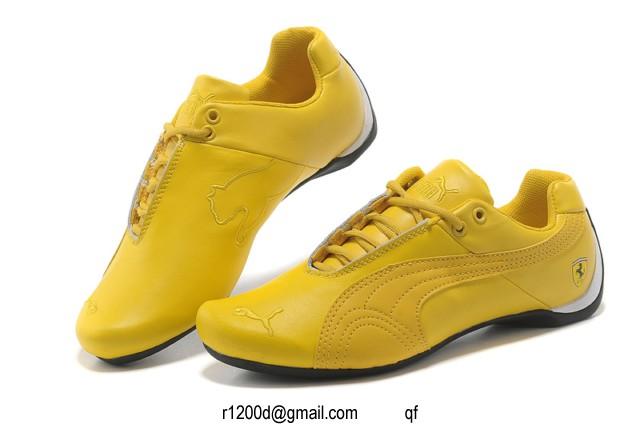 basket puma jaune