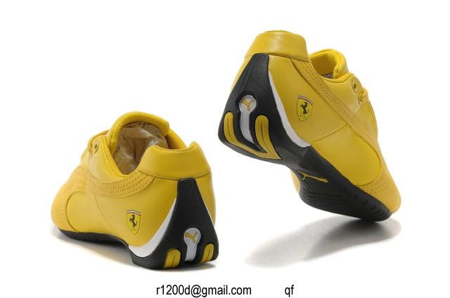 chaussure puma homme jaune