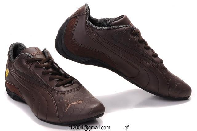 chaussures puma ferrari marron
