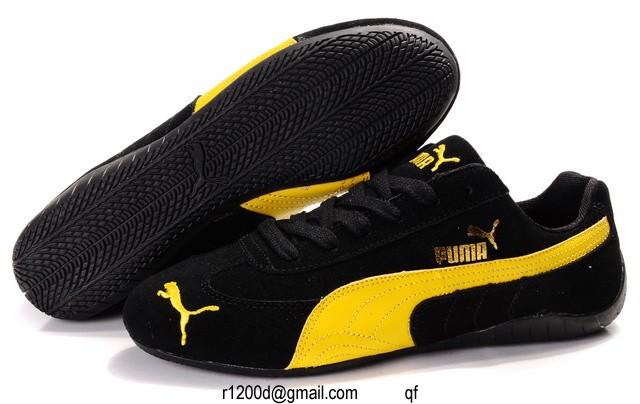 chaussure puma femme jaune