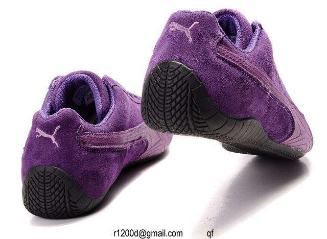 basket puma violette femme