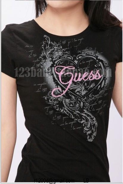 t Guess Shirt t Nouvelle Gris Collection Femme Tee Qdrhst