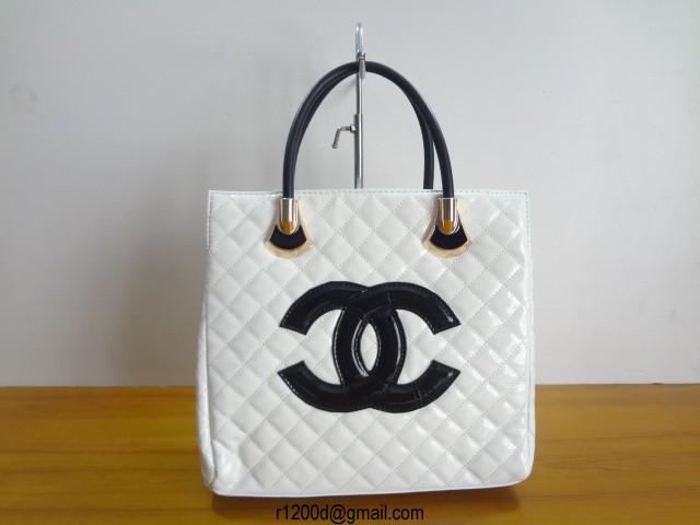 Sac A Main Chanel Blanc Et Noir : Sac a main chanel en solde pas